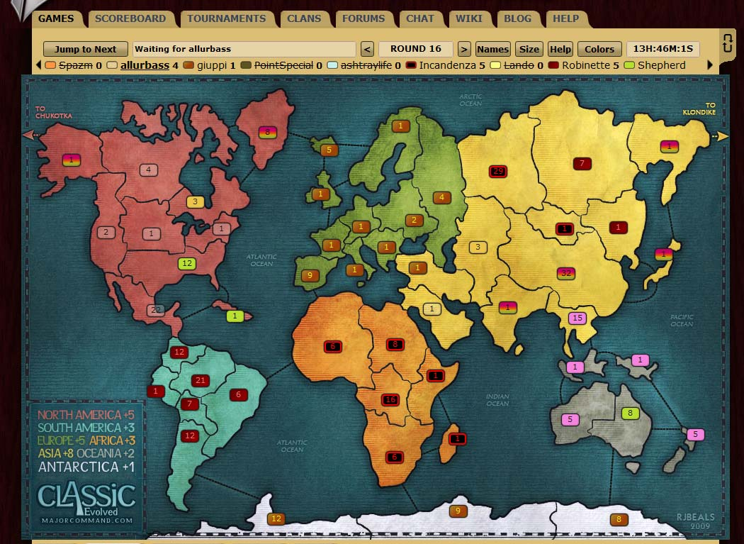 play risk online Major Command
